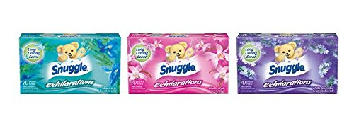 Snuggle Exhilarations Fabric Softener Dryer Sheets Variety