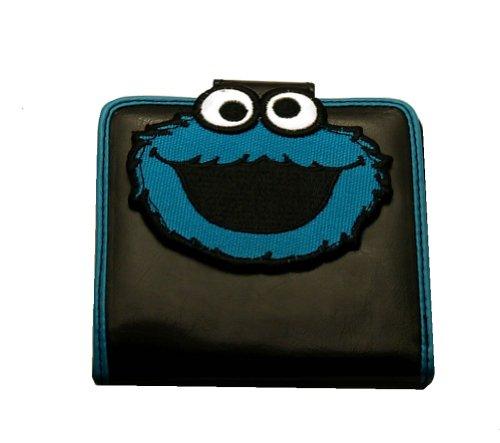 Sesame Street Cookie Monster Face PVC Bifold Wallet