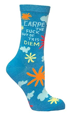 BlueQ Carpe The F*ck Out Of This Diem Socks