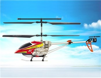 SongYang 8088-34 3 Channels RC Helicopter with Gyroscope (Red)