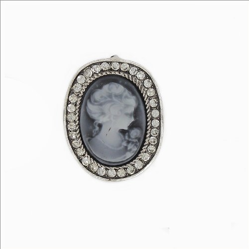 Oval Shape Cameo Design Pin #032586