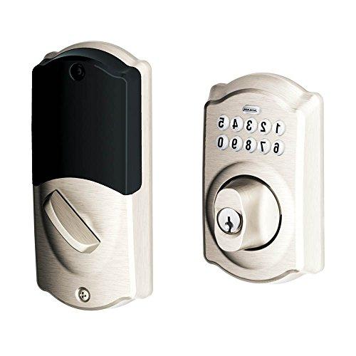 Home Keypad Deadbolt (Nexia, Iris, Zwave) (Nickel)
