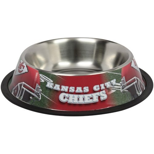 Kansas City Chiefs Dog Bowl ★ Stainless Steel ★ Licensed Nfl