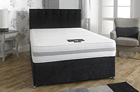 SuperKing 6FT Celeste 1500 Pocket Encapsulated Zip & Link Divan Bed + 4 Drawers