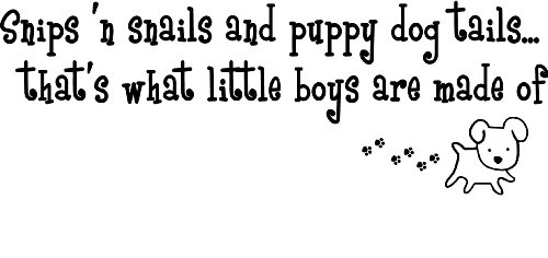 "Snips 'N Snails And Puppy Dog Tails...That'S What Little Boys Are Made Of Cute Nursery Wall Art Wall Sayings 28""X10"" #2 front-548026"