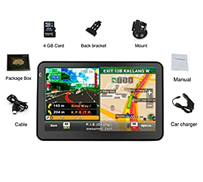 EASYOWN G 7050 7 inch Car GPS Windows CE 6.0 4GB HD Screen Navigation System Navigator
