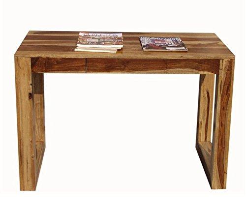 Legno Dekor studio scrivania con 1cassetto, Sheesham naturale, 110x 55x 75cms