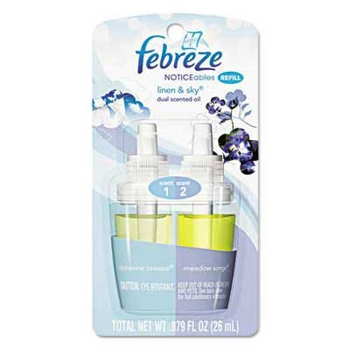 Febreze NOTICEables Refills, Linen & Sky, 0.9 oz Refill, 8/Carton (Febreze Plug In Refills Linen compare prices)