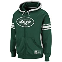 New York Jets Intimidating V Full Zip NFL Hoodie Size L
