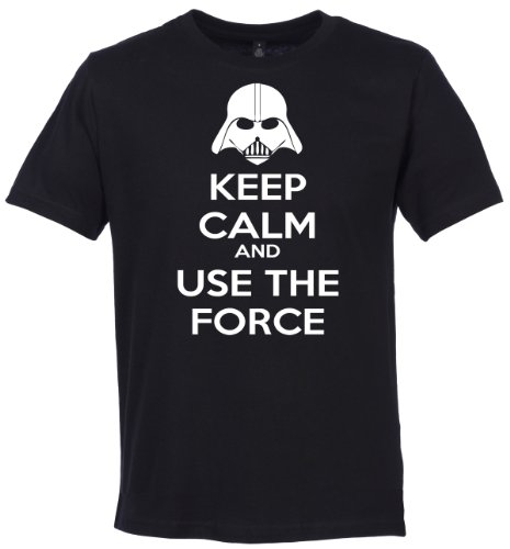 Phunky Buddha - Keep Calm And Use The Force Men'S Gift / Present T-Shirt - S - Black front-553357