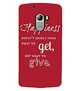 ColourCraft Quote Design Back Case Cover for LENOVO VIBE K4 NOTE
