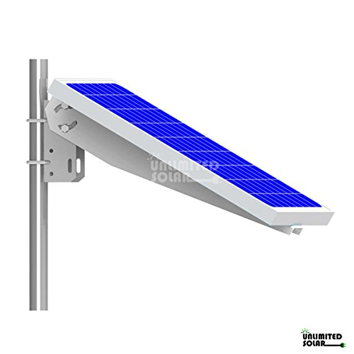 Solar panel single arm universal pole wall mounting kit for Solar panel layout tool