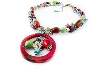 Maisha Fair Trade Strand Necklace, Laughter Line