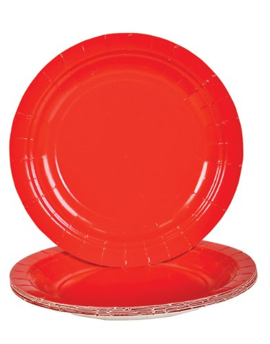 Red Dessert Paper Plates (25 pc)
