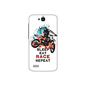 The Racoon Grip Sleep Eat Race Repeat hard plastic printed back case / cover for Huawei Honor Holly