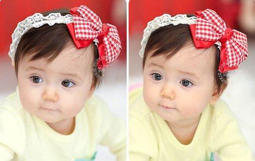 HOTER Baby Girl Dentelles Baby Flower Headband for Infant, Baby, Toddler. Chiffon Flower
