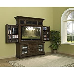San Andorra Entertainment Center with Side Storage