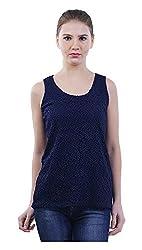 MERCH21 Women's Regular Fit Top (MERCH-346-NAVY, Blue, XL)