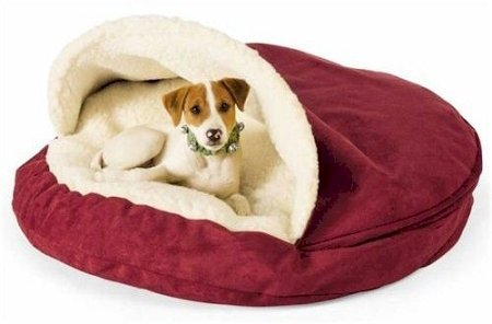 Snoozer Luxury Cozy Cave Pet Bed, Large, Shona Granite