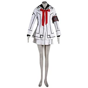 Vampire Knight Night Cross Academy Female Uniform Cosplay Costume in White XL Size