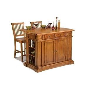 Oak Kitchen Island Set Drop Leaf With Bar Stools Seating Serving Carts