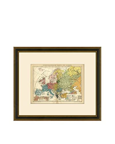 Antique Map of Europe, 1894-1904