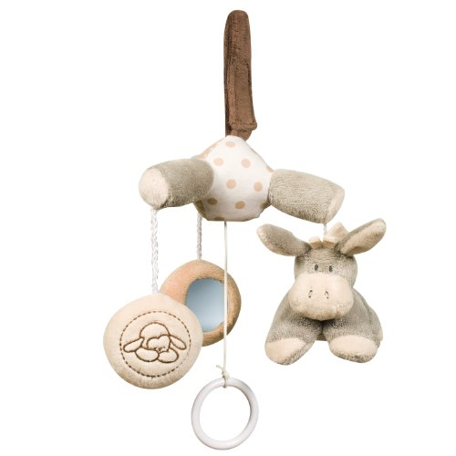 Nattou Cappuccino Collection Mini Mobile Lamb and Donkey - 1