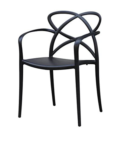 Manhattan Living Script Dining Chair, Black