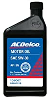 ACDelco 10-9067 5W-30 Motor Oil - 1 qt from ACDelco