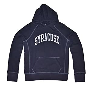 Syracuse Orangemen Hooded Sweatshirt - Ladies Hoody By League - Navy by SportShack INC