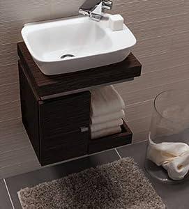 keramag silk handwaschbecken unterschrank wenge pangar echtholzfurnier k che haushalt. Black Bedroom Furniture Sets. Home Design Ideas