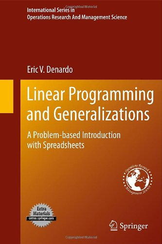 Linear Programming and Generalizations: A Problem-based...