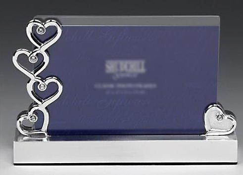 Glass & Silver Hearts Photo Frame 6