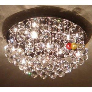Loco lampadario con cristalli e lampadine pendenti ideale per camere da letto - Amazon lampadario camera da letto ...