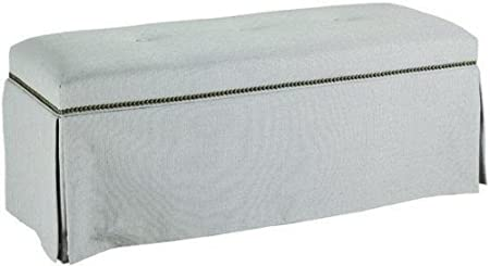 Skirted Bench With Nailhead Trim, SKIRTED, PROTEGE HAZE