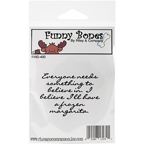 Riley & Company Funny Bones Cling Mounted Stamp, 2.25