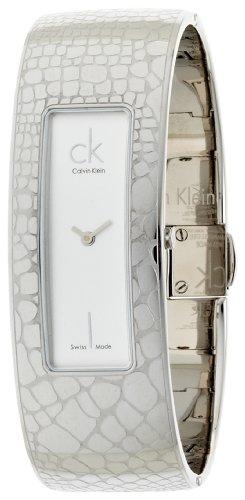 Calvin Klein Instinctive K2023120 - Reloj de mujer de cuarzo, correa de acero inoxidable color plata