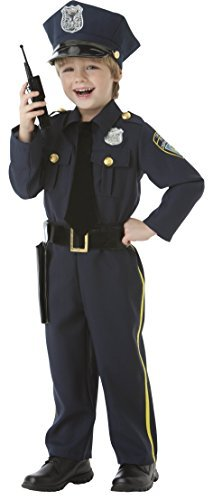 Police Officer - 5 Piece Costume Set - Size Small (4-6)