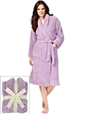 Shawl Collar Cosy Fleece Dressing Gown