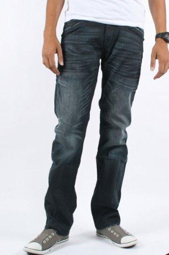 Rock Revival - Mens Hector Straight Leg Jeans in A3 Denim, Size: 30, Color: Denim