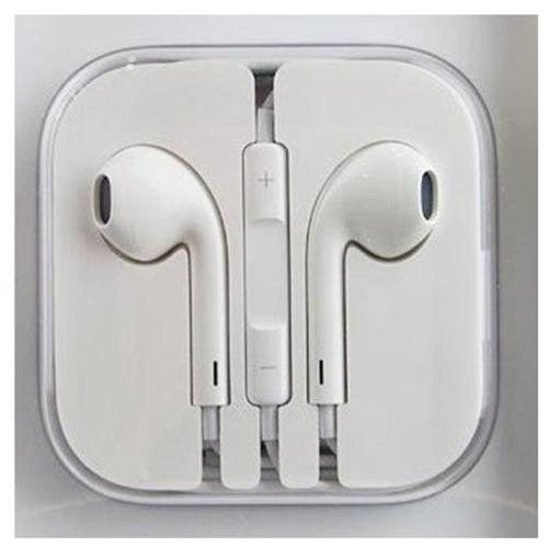 Earbuds Earpods With Control Talk Mic + Volume - White - For Iphone 3G 4 4S 5 5C 5S Ipad And Ipods - White-Ear