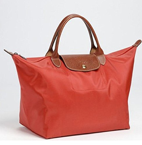 Longchamp discount duty free Longchamp Large Handheld Tote - Le Pliage - Poppy