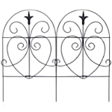 Panacea 89379 Romantic Folding Border Fence, Black