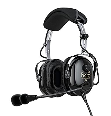 Faro G2 Active Noise Reduction (ANR) Helicopter Pilot Headset - U174 - MP3 Input from Faro Aviation