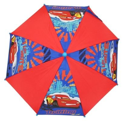 Disney Cars Drifting,umbrella, Lightning Mcqueen Picture, Blue/red, Blue Handle