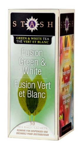 Stash Tea Fusion Green & White Tea, 30 Count Tea Bags In Foil (Pack Of 6)