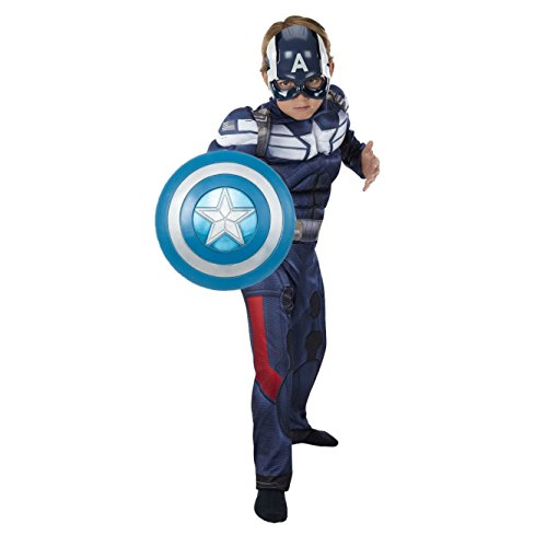 Marvel Avengers Captain America Deluxe Muscle Costume with 12