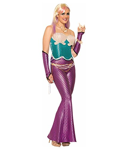 Mermaid Adult Costume Arm Sleeves Pink One Size