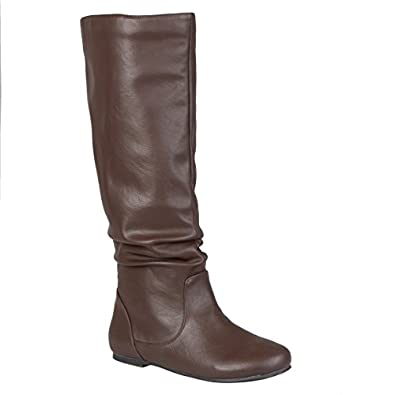 Journee Collection Womens Mid-Calf Slouch Riding Boots