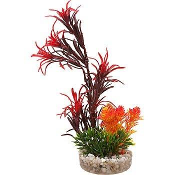 Blue Ribbon Red Sea Grass Bouquet Plastic Aquarium Plant
